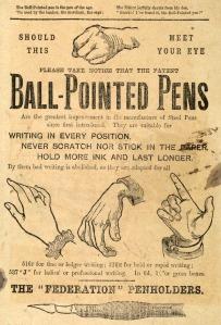 A Victorian advert for ballpoint pens