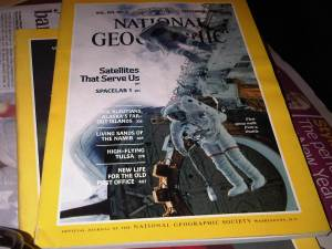 Copies of National Geographic