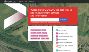 Gov UK home page