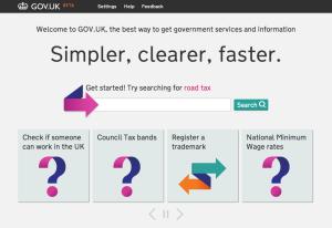 gov.uk home page