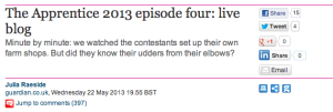 A Guardian live blog