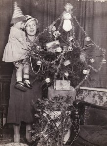 My Grandmother aged two, helping to decorate the tree