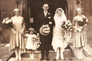 Walter and Ellaline Tucker wedding 1929